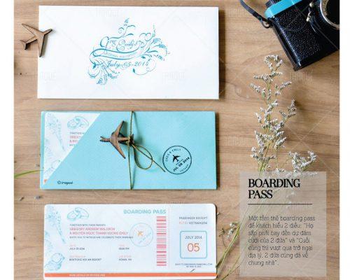 Thiệp cưới chủ đề du lịch