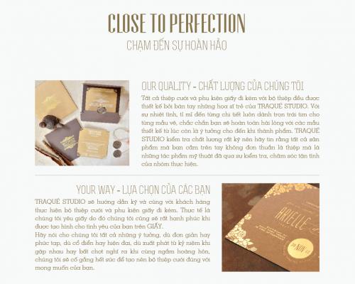 close to perfection | chạm đến sự hoàn hảo