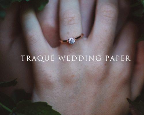 PORTFOLIO – TRAQUÉ WEDDING PAPER