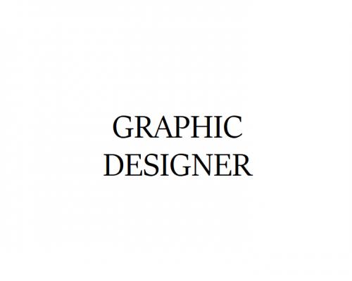 WE'RE HIRING: GRAPHIC DESIGNER