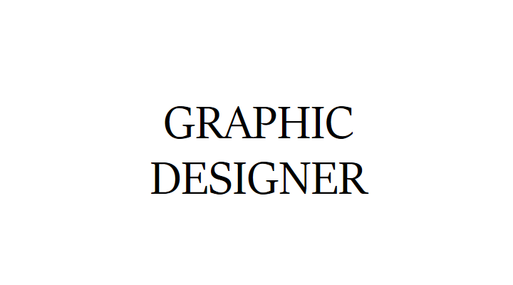 WE'RE HIRING: GRAPHIC DESIGNER